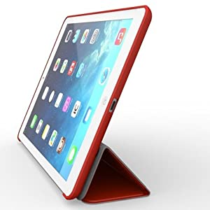 KHOMO iPad Mini 4 Case (Released September 2015) - DUAL Red Super Slim Cover with Rubberized back and Smart Feature (sleep / wake feature) For Apple iPad Mini 4th Generation Tablet from ipad mini 4 case