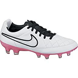 Nike Womens Tiempo Legacy Firm Ground (WHITE/PINK POW) (9.5)