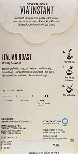 Starbucks VIA Ready Brew Italian Roast Coffee 1.4oz 12 Single Serve Packets