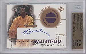 Kobe Bryant BGS GRADED 9.5 Los Angeles Lakers (Basketball Card) 2001-02 Upper Deck... by Upper Deck Ovation