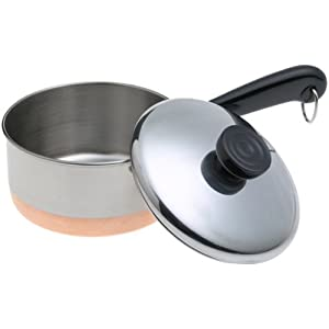 Revere Copperclad Bottom 1-Quart Covered Saucepan