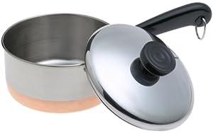 Revere Copperclad Bottom 1-Quart Covered Saucepan