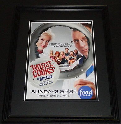 Worst Cooks in America 2010 11x14 Framed ORIGINAL Advertisement Anne Burrell