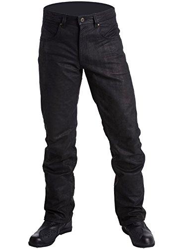 lookwell-Pantaloni Pelle Jean Roxy Buff Stone Nero Donna lookwell
