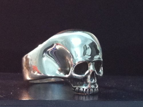 KEITH RICHARDS SKULL ROLLING STONES STERLING SILVER 925 RING
