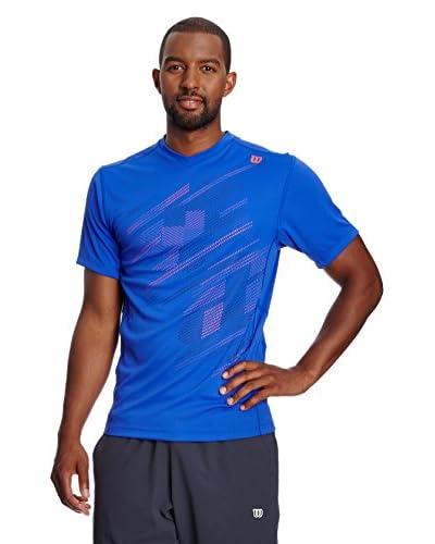 Wilson T-Shirt Manica Corta [Blu]