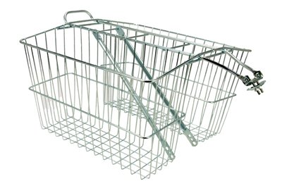 Wald 535 Rear Twin Bicycle Carrier Basket (18 x 7.5 x 12)