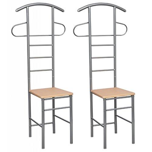 ᐅ 2x Herrendiener Stuhl Kleiderständer Stummer Diener Buche Stühle ...