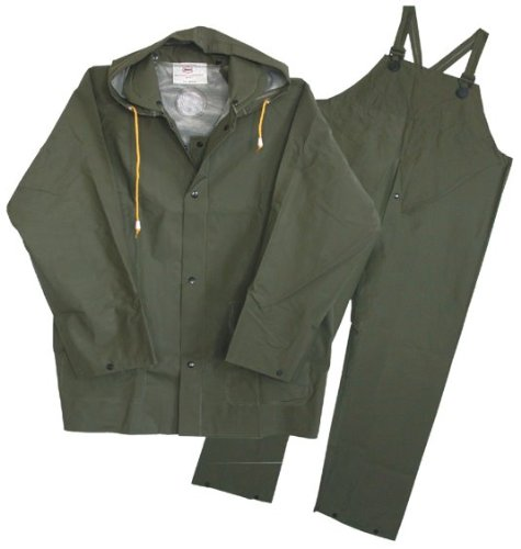 Boss 3PR0300GL 3-Piece Large Green Lined Rain Suits