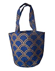 Blue Print Jute Bag