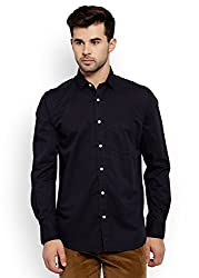 Colorplus Men's Casual Shirt (8907397512968_CMSS25744-BE_Small_Navy)