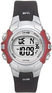 Timex Unisex T5G841 1440 Sports Digital Silver-Tone/Black Resin Strap Watch