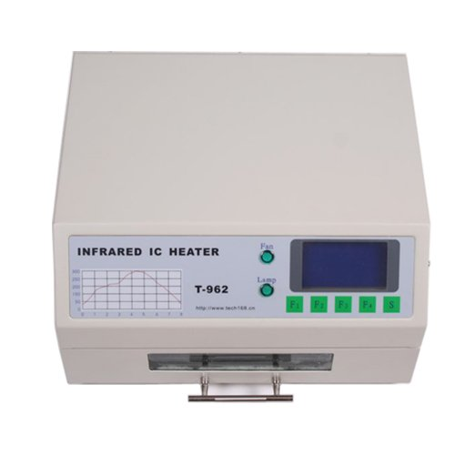 Eteyo T962 Automatic Reflow Oven 800W Infrared Ic Heater Smd Bga 180×235Mm