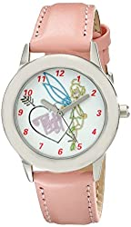 Disney Kids' W001983 Tinker Bell Analog Display Analog Quartz Pink Watch