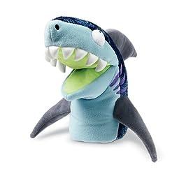 Manhattan Toy Chopper Chums Shawn Shark Plush Hand Puppet