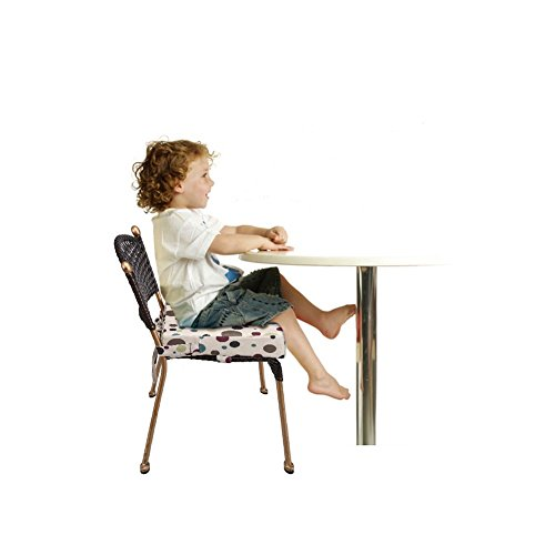 Kinderstuhl-Booster-Pad-Robuste-Oxford-Dismountable-Verstellbare-Kinder-Dining-Chair-Booster-bequemes-Kissen-Easy-Clean-Baby-Kindersitze-Gelb