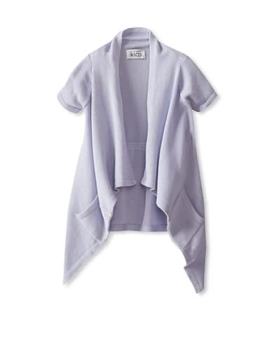 Autumn Cashmere Girl's Short Sleeve Cinched Back Swancho  [Lavender]