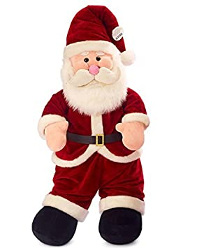 95cm Adorable Santa Claus Plush Toy Soft Stuffed Animal Doll Xmas Christmas Birthday Valentine Gift