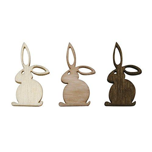 rayher-56545000-elementi-decorativi-in-legno-lepri-2-cm-laserati-3-colori-24-pezzi