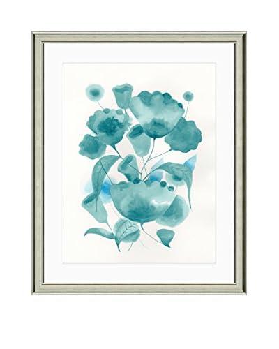 Art Source Watercolor Teal Flower Print II, Multi