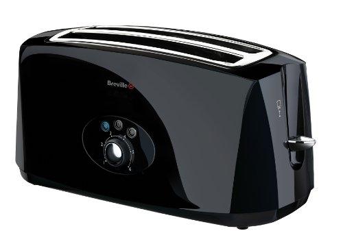 Breville VTT194 Black 4 Slice Toaster, 1650 Watts by Breville