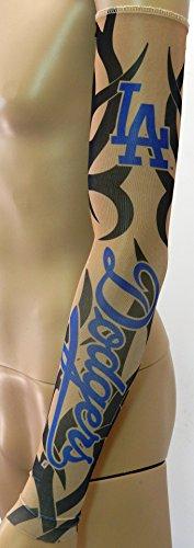New los angeles dodgers tribal tattoo arm sleeve fastcub for Tattoo supply los angeles