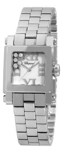 Chopard Women's 278516-3002 Happy Sport Diamond White Dial Watch
