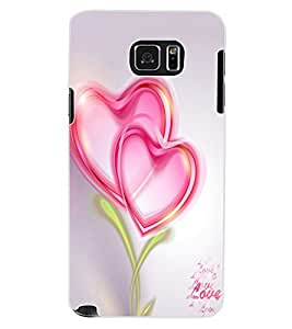 ColourCraft Love Hearts Design Back Case Cover for SAMSUNG GALAXY NOTE 5