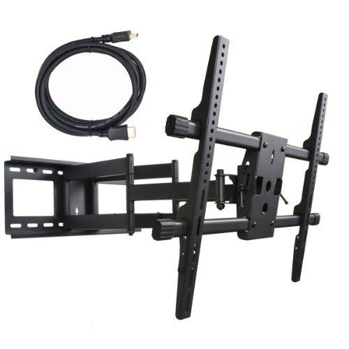 Videosecu Articulating Full Motion Tilt & Swivel Flat Screen Lcd Led 3D Tv Wall Mount Bracket For 60'' Sharp Lc-60Le847U Lc-60Le640U Lc-60Le600U Lc-60Le745U Lc-60C7450U Lc-70Le650 Lc-60Le757U Lc-60Le650 Lc-60Le550 Lc-50Le650 Lc-40Le550 Lc-42Lb150U Lc-50Lb