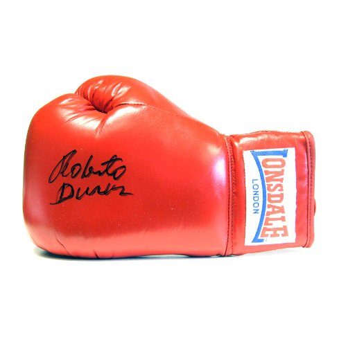 Roberto Duran Signed Boxing Glove - Lonsdale