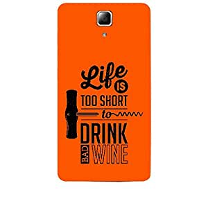 Skin4gadgets Awesome Wine & Dine Quotes, Pattern 32, Color - Wine Phone Skin for LENOVO A536