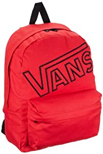 Vans Unisex-Adult Old Skool II Backpack Backpack, Red, 45.5 x 38.5 cm