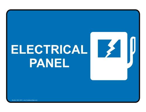 Compliancesigns.Com Glow-In-Dark Aluminum Electrical Panel Sign, 7 X 5 With English, Blue