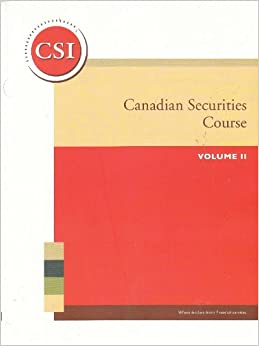 Canadian Securities Institute - Online Flashcards, Study ...