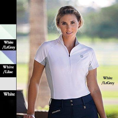 ER Lds Romfh SS Tempo Show Shirt - Size:Small Color:White/Mint