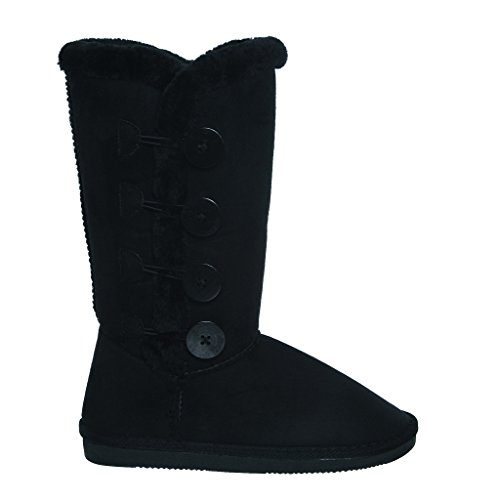 tina-02-plain-color-four-button-fur-lined-mid-calf-snow-boots-9-black