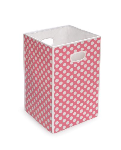 Big Save! Badger Basket Folding Hamper/Storage Bin, Pink
