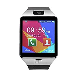 Smart Watch for Android Phones, SHONCO Bluetooth Smartwatch DZ09 Mobile Phone Watch with Pedometer HD Display Touch Screen Camera Long Battery Life( Black)