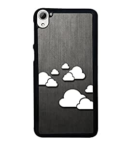 Printvisa Ultra Clouds Pattern 2D Hard Polycarbonate Designer Back Case Cover for HTC Desire ...