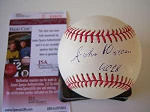John Wooden Ucla Bruins Jsa coa Signed Mlb Baseball - Autographed College Baseballs by Sports+Memorabilia