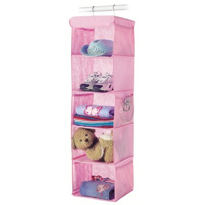 Whitmor 6636-1234-PINK Fashion Polypro Color Organizer Collection Hanging Accessory Shelves, Pink