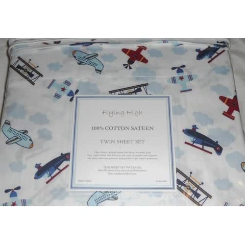 Amazon.com - Hillcrest Fine Linens Airplanes Flying High