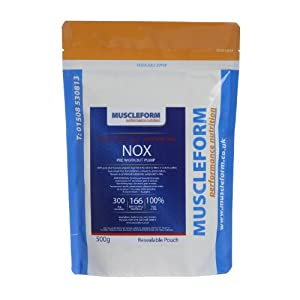 Muscleform NOX Nitric Oxide No2 A-AKG Powder 500g Re-Sealable Pouch - 166 days supply - Fast Delivery