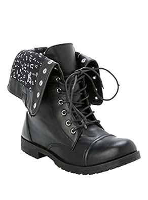 Amazon com music note combat boots shoes
