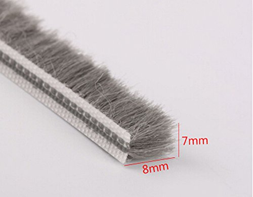7mm x 8mm aluminum sliding door window brush seal dustproof strip weatherstripping draught excluder (Window Brush Seal compare prices)