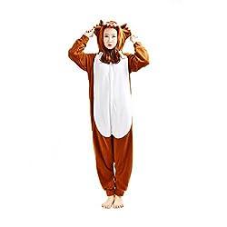 CASA Adult Unisex Fleece Animal Novelty Costume Cosplay Homewear Nightwear Kigurumi Onesie Pajamas XL