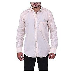 Austrich Men's Casual Shirt (11007_Light Pink_40)