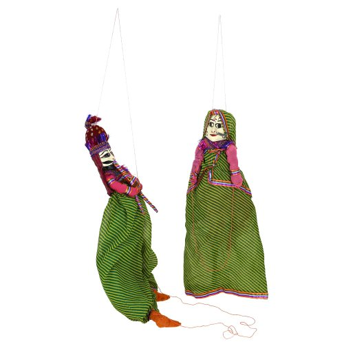 Hand puppets for children Indian katputli marionette wooden - 1