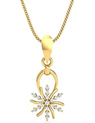 Kuberbox Yellow Gold And Diamond Elegance Personified Pendant