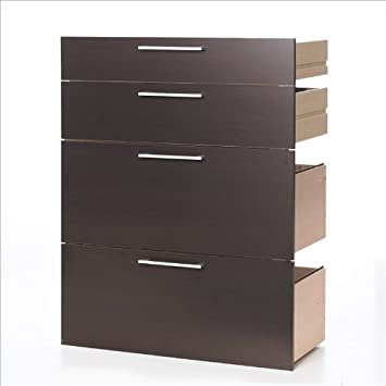 Tvilum Pierce 2 Drawer 2 File Drawer Kit For Bookcase in Coffee